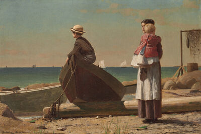 Winslow Homer, 'Dad's Coming!', 1873