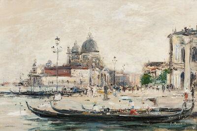Eugène Boudin, 'Venise. Le Mole à l'entrée du grand canal et la salute'