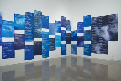 Andrea Bowers, 'Courtroom Drawings (Steubenville Rape Case, Text Messages Entered As Evidence, 2013)', 2014