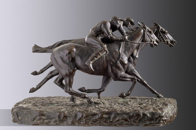 Jean Louis Brown, 'By only a head of a pureblood race colt', ca. 1900