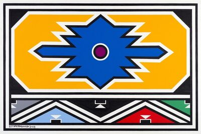 Esther Mahlangu, 'Ndebele Abstract - C001402', 2019