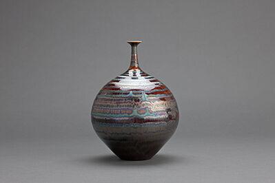 Hideaki Miyamura, 'Vase, blue waves glaze'