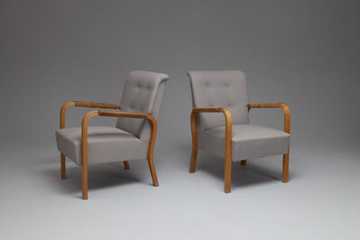 Alvar Aalto, 'Pair of Armchairs, Model no. 47', ca. 1950