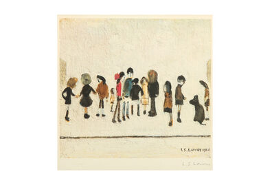 Laurence Stephen Lowry, 'In the crowd'