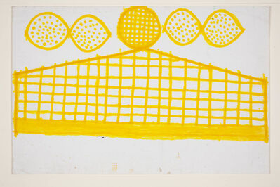 Evelyn Reyes, 'Fence with unnamed shape (Yellow)', 2003