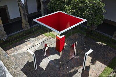 Daniel Buren, 'Las dos cabañas estalladas amarilla y roja, de espejos Trabajos in situ', 2010-2014