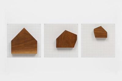 Jennifer Losch Bartlett, 'Untitled (Three Wood Houses)', 2002