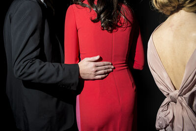 Landon Nordeman, 'Lady in the Red Dress (at the Frick Young Fellows Ball) ', 2018