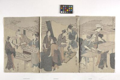 Hosoda Eishi, 'Triptych', date unknown