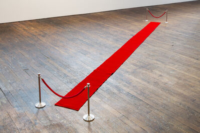 Charles LeDray, '!DO NOT ENTER! / Red Carpet', 2018