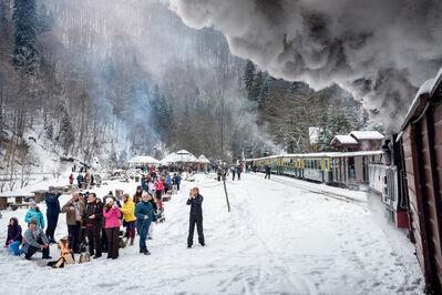 Jörg Müller, 'Carpathian forest steam train, Vișeu de Sus / Oberwischau, Romania', 2016