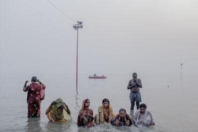 Arko Datto, 'Pilgrims Bathing in preparation for the Gangasagar Mela festival', 2017