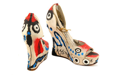 Ralph Steadman, 'The Eyes Have It,  (a pair of hand painted shoes'