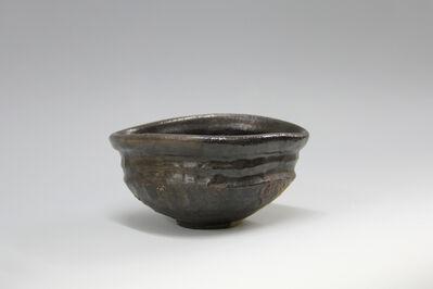 Shiro Tsujimura, 'Black tea bowl, Oribe style', 2016