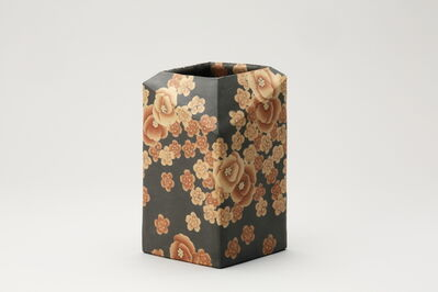Ito Sekisui V, 'Mumyoi Neriage Square Jar with Flower Patterns', 2016