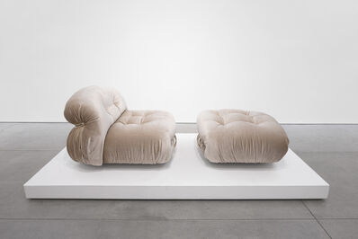 Scarpa, ''Soriana' Lounge Set for Cassina (Two Chairs and Ottoman)', 1970-1979