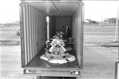 Laura Wilson, 'Debutantes Arriving at Ball in Moving Van, Laredo Texas', 1993