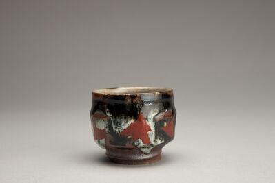 Tomoo Hamada, 'Sake cup, black and white glazes with akae decoration', 2018