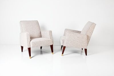 Maison Leleu, 'Pair of Armchairs', ca. 1964