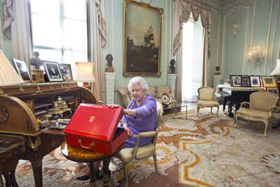 Harry Benson, 'Queen Elizabeth, Buckingham Palace, London', 2014