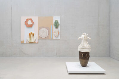 Nicole Cherubini, 'From left to right: Panel #1 and #2, 2014; Earth Pot #6, 2014'