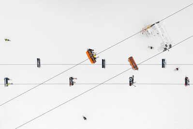 Kacper Kowalski, 'Side Effects, Depth of Winter, Skiers 01', 2016
