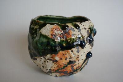 Osamu Inayoshi, 'Kurinuki Tea Bowl (Oribe)', 2017