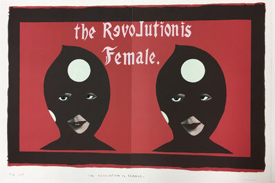 Marcel Dzama, 'The revolution is female', 2017
