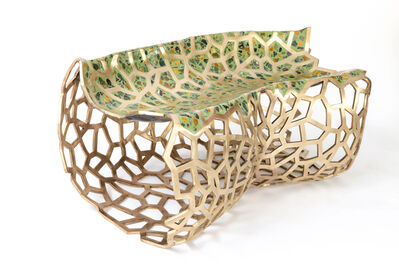 David Wiseman, 'Lattice Terrazzo Bench (Jasper Green)', 2019
