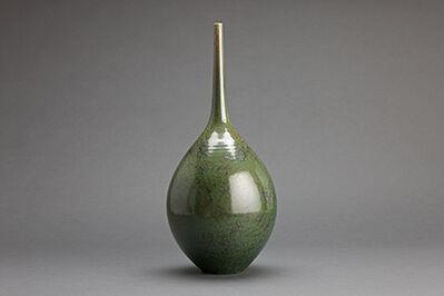 Hideaki Miyamura, 'Teardrop vase, green crystalline glaze'