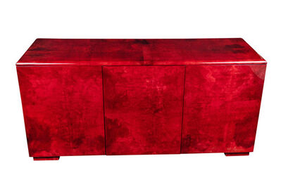 Aldo Tura, 'Rare Aldo Tura Goatskin Cabinet/Sideboard', ca. 1970