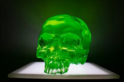 Sam Tufnell, 'Sam Tufnell, Fluorescent Green Half Skull', 2018
