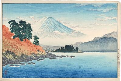 Hiroaki Takahashi (Shotei), 'Cormorant Island, Lake Kawaguchi', ca. 1929