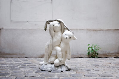 Clémentine de Chabaneix, 'Kittens in the rain', 2018