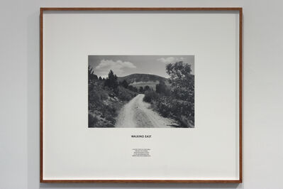 Hamish Fulton, 'WALKING EAST A 23 DAY COAST TO COAST WALK THROUGH THE PYRENEES FROM THE ATLANTIC OCEAN TO THE MEDITERRANEAN SEA FRANCE AND SPAIN SUMMER 2012', 2012