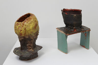 Sheila Pepe, 'Bubbles (left), Stool and Bowl (right)', 2015