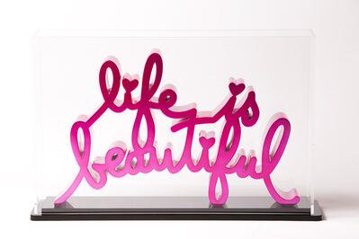 Mr. Brainwash, 'Life is beautiful - Hard Candy Magenta', 2020