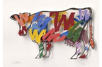 David Gerstein, 'Brush Strokes Cow - Paper Cut', 2007