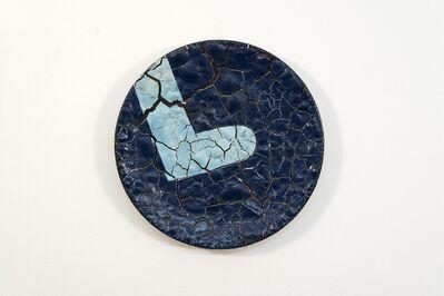 Steven Heinemann, 'TP No 2 - blue, textured, ceramic, wall mounted circular sculpture', 2021