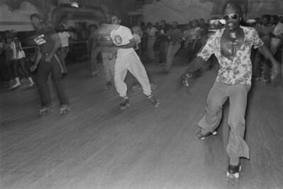 Bill Bernstein, 'Skaters, Empire Roller Disco, Brooklyn', 1979