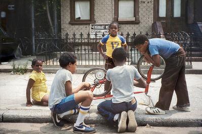 Meryl Meisler, 'Fix Bike, Citadel of Hope, Palmetto Street, Bushwick, Brooklyn', 1982
