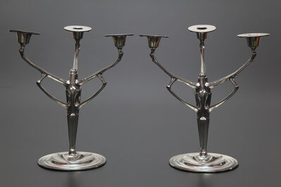 Friedrich Adler, 'Pair of Candelabras designed for Urania Co.', 1904