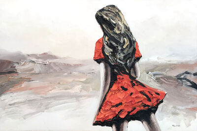 Palla Jeroff, 'Red Desert Girl'