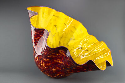 Dale Chihuly, 'Large Macchia, Deep Red with Yellow Interior', 1994