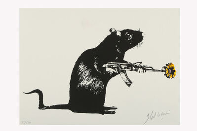 Blek le Rat, 'Warrior (yellow)', 2020