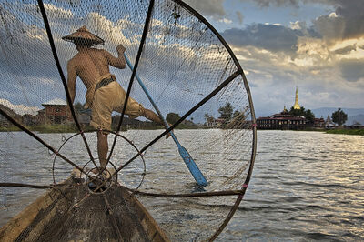 Steve McCurry, 'Fisherman on Inle Lake, Burma', 2008