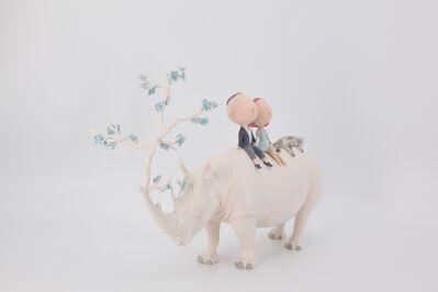 Wu Qiong, 'Rhinoceros In Love- 恋爱的犀牛', 2017