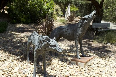 Sharon Loper, '[ 33 ] Howling Wolf & Female Wolf ', Contemporary