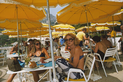 Slim Aarons, 'Cafe In Monte Carlo', 1975