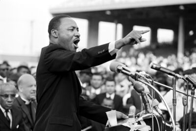 Julian Wasser, 'Martin Luther King, Los Angeles'